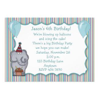 Invitación del cumpleaños de la magdalena del elef