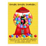 Invitación del cumpleaños de la máquina de Gumball