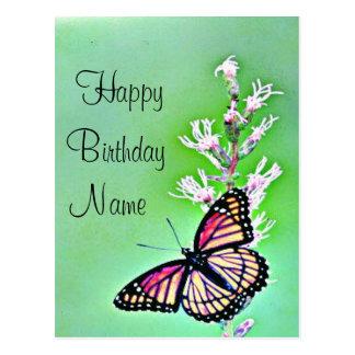 Invitación del cumpleaños de la mariposa postales