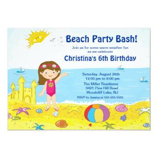 Invitación del cumpleaños de la natación de la invitación 12,7 x 17,8 cm