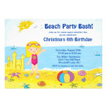 Invitación del cumpleaños de la natación de la chi