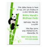 Invitación del cumpleaños de la panda