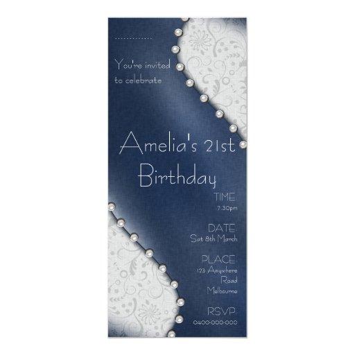 Invitación del cumpleaños de la perla