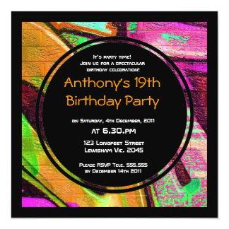 Invitación del cumpleaños de la pintada