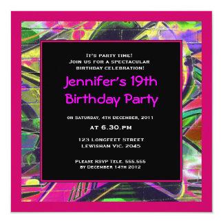 Invitación del cumpleaños de la pintada de las