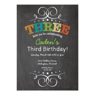 Invitación del cumpleaños de la pizarra