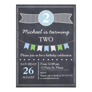 Invitación del cumpleaños de la pizarra de los