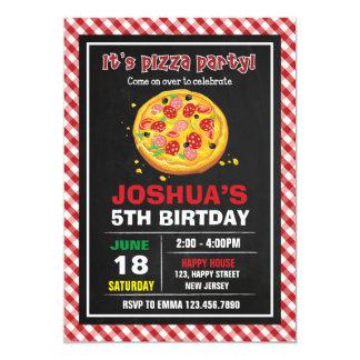 Invitación del cumpleaños de la pizza