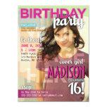 Invitación del cumpleaños de la portada de revista