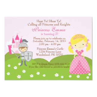 Invitación del cumpleaños de la princesa (rubia) y