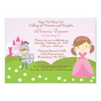 Invitación del cumpleaños de la princesa y del