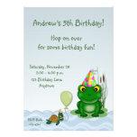 Invitación del cumpleaños de la rana