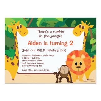 Invitación del cumpleaños de la selva