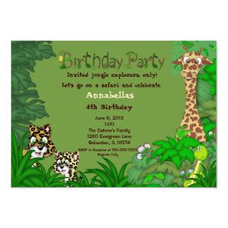 Invitación del cumpleaños de la selva del safari