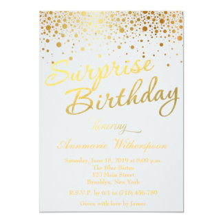 Invitación del cumpleaños de la sorpresa de la