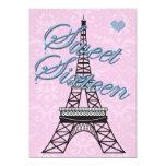 Invitación del cumpleaños de la torre Eiffel de