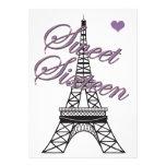 Invitación del cumpleaños de la torre Eiffel de Pa