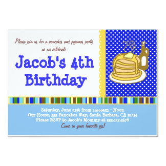 Invitación del cumpleaños de las crepes y de los