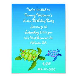 Invitación del cumpleaños de las tortugas