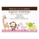 Invitación del cumpleaños de los animales de Jill
