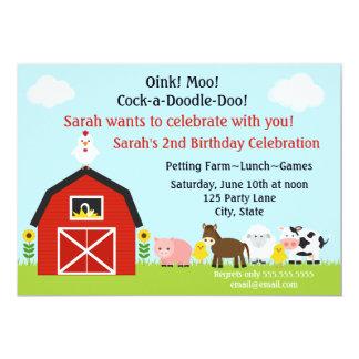 Invitación del cumpleaños de los animales del