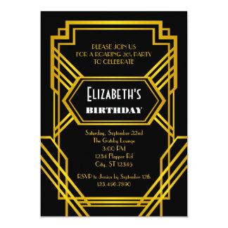 Invitación del cumpleaños de los años 20 del