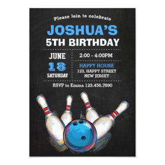 Invitación del cumpleaños de los bolos