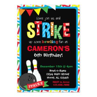 Invitación del cumpleaños de los bolos, pizarra de