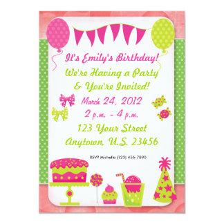 Invitación del cumpleaños de los chicas