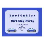 Invitación del cumpleaños de los coches
