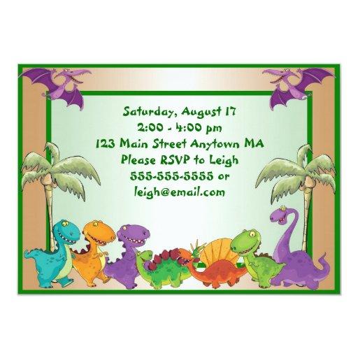 Invitación del cumpleaños de los dinosaurios
