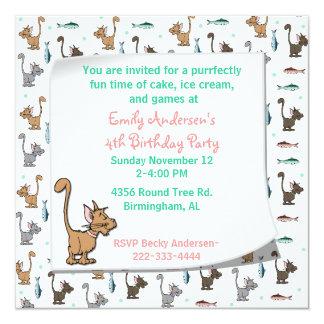 Invitación del cumpleaños de los gatitos del