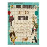 Invitación del cumpleaños de los juerguistas invitación 16,5 x 22,2 cm