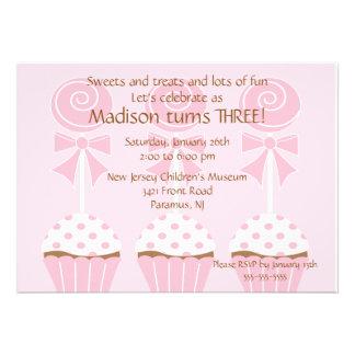 Invitación del cumpleaños de los Lollipops y de la