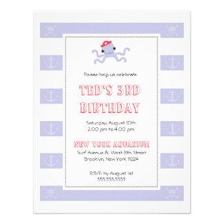 Invitación del cumpleaños de los muchachos - pulpo