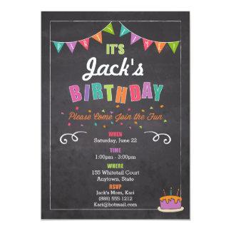 Invitación del cumpleaños de los niños