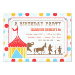 Invitación del cumpleaños de los niños - circo