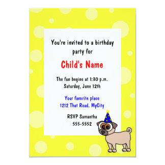 Invitación del cumpleaños de los niños del perrito