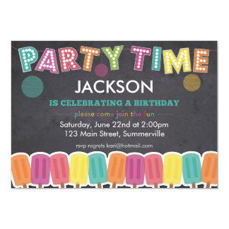 Invitación del cumpleaños de los niños - tiempo