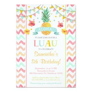Invitación del cumpleaños de Luau, invitación de