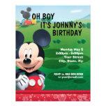Invitación del cumpleaños de Mickey Mouse