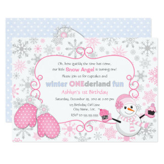 Invitación del cumpleaños de One-derland del