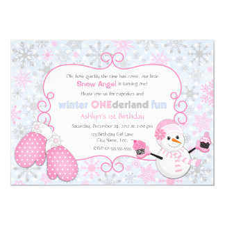 Invitación del cumpleaños de One-derland del Invitación 12,7 X 17,8 Cm