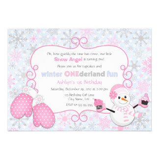 Invitación del cumpleaños de One-derland del invie