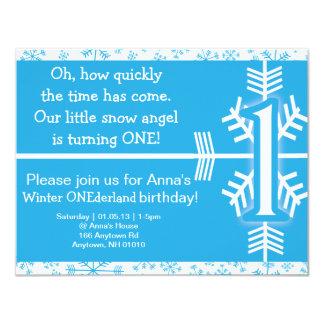 Invitación del cumpleaños de ONEderland del Invitación 10,8 X 13,9 Cm