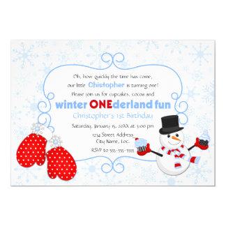 Invitación del cumpleaños de ONEderland del Invitación 12,7 X 17,8 Cm
