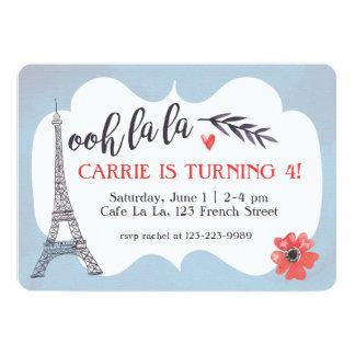 Invitación del cumpleaños de París del la del la