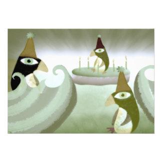 Invitación del cumpleaños de Pinguine Manchot del