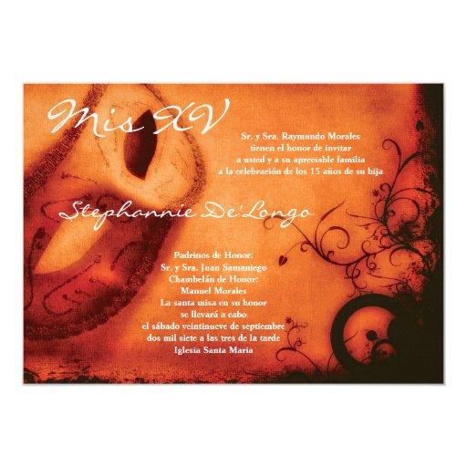 invitación del cumpleaños de Quinceanera de la