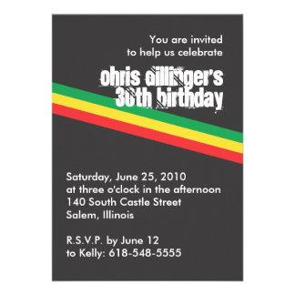 Invitación del cumpleaños de Rasta